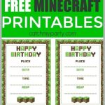 Minecraft Wrapping Paper Printable Marvelous Free Printable Water Bottle Labels Minecraft Templates Invitations