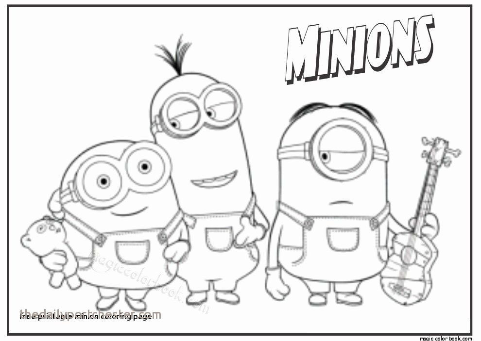 11 Inspirational Minion Color Pages