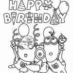 Minion Coloring Pages Free Excellent Fresh Birthday Coloring Page Fvgiment