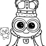 Minion Coloring Pages Pdf Exclusive Coloring Tremendous Cute Coloring Books Minion King Bob Page Pages