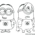 Minion Printable Coloring Pages Brilliant Coloring Pages Minion Coloring Sheets Bob Pages Printable