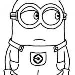 Minion Printable Coloring Pages Inspired Coloring Books Funny Despicable Me Minion Free Printable