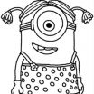 Minions Coloring Pages to Print Inspiration Download and Print Minion Girl Despicable Me Coloring Pages