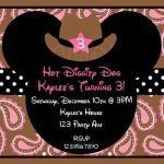 Minnie Mouse Cowgirl Awesome Western Birthday Invitations Western Minnie by thetrendybutterfly