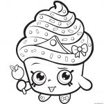 Miss Mushy Moo Shopkins Wonderful Cupcake Queen Exclusive to Color Coloring Pages Printable