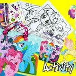 Mlp Coloring Books Pretty My Little Pony Movie 2017 Activity tote with Activity Book Coloring