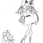 Monster High Color Pages Awesome Baby Rochelle Coloring Pages