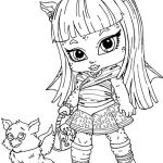 Monster High Color Pages Creative Monster High Rochelle Gregory Goyle Was Little Coloring Page