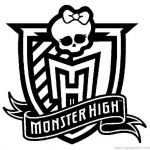 Monster High Color Pages Inspirational High Logo – Name