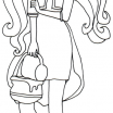 Monster High Coloring Page Awesome Pin by Kitten Weatherly On 2 Color Ever after High