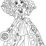 Monster High Coloring Page Wonderful Free Printable Ever after High Coloring Pages Madeline Hatter Way