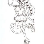Monster High Coloring Pages Marvelous Monster High Werecat Sisters Coloring Pages