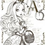 Monster High Coloring Pages Pdf Fresh Fun with the Descendants From Ever after High Coloring Pages