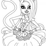 Monster High Coloring Pages Pdf Fresh Monster High Catty Noir Colouring Pages