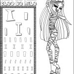 Monster High Coloring Pages Pretty Monster High Coloring Pages to Print