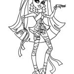 Monster High Coloring Pages to Print for Free Beautiful Cleo De Nile Art Coloring Drawing