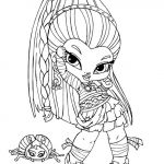 Monster High Coloring Pages to Print for Free Inspired Monster High and Pets Coloring Pages Monster High Cartoon Coloring