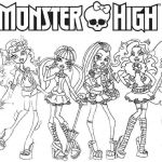 Monster High Coloring Pages to Print for Free Marvelous Monster Coloring Pages Free Printable – Iamdriverfo