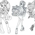 Monster High Coloring Pages to Print for Free Wonderful Monster High Coloring Page Best Monster High Printables Coloring