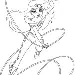 Monster High Colors Awesome 19 Wonder Woman Printable Coloring Pages Collection Coloring Sheets