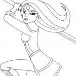 Monster High Colors Fresh Wonder Woman Coloring Pages