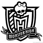 Monster High Colors Unique Monster High Logo Coloring Page Copic Coloring