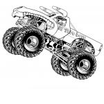 Monster Truck Coloring Book Amazing Coloring Monster Truck Coloring Pages for Hotels Free Fabulous