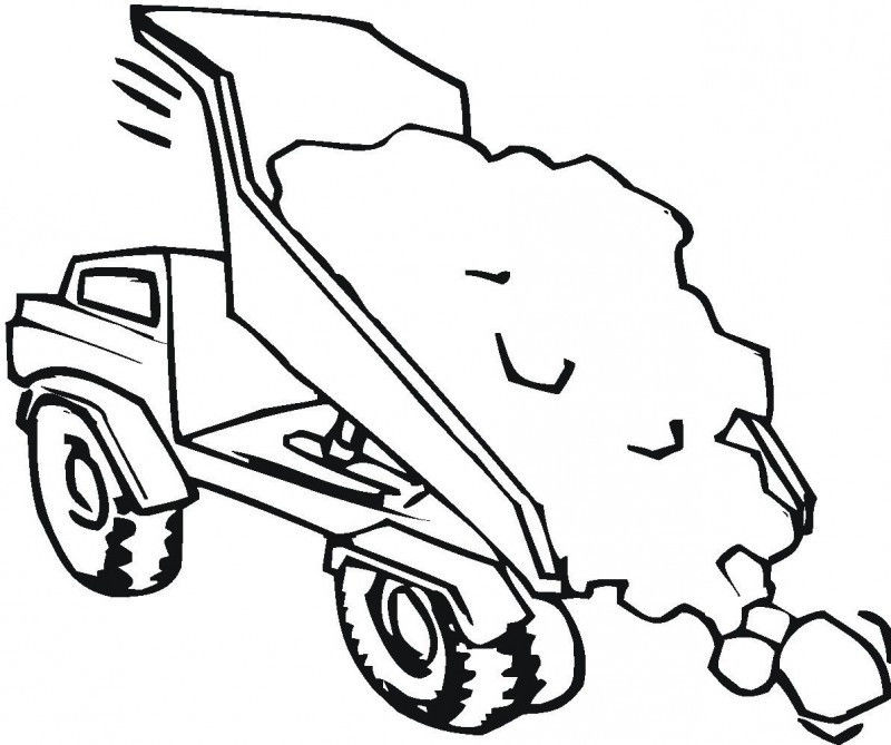 Tipper Truck Full Od Sand Coloring For Kids Kids Colouring Pages