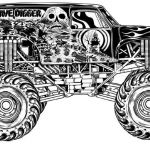 Monster Truck Coloring Book Wonderful Grave Digger Coloring Pages Grave Digger Coloring Pages