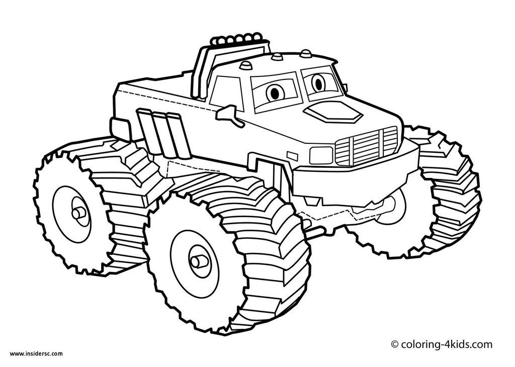 Monster Trucks Printable Coloring Pages Awesome Elegant Construction Truck Coloring Page 2019