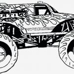 Monster Trucks Printable Coloring Pages New Monster Truck Coloring Page