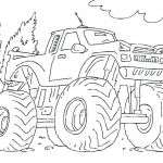 Monster Trucks Printable Coloring Pages New Truck Picture to Color – 488websitedesign