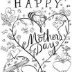 Mother Day Card to Color Awesome 71 Best Mothers Day Coloring Sheets Images