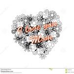 Mother Day Coloring Sheet Best Coloring Image Heart for Mothers Day Stock Vector Illustration