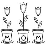 Mother Day Coloring Sheet Marvelous Mother S Day Flowers Coloring Pages for Kids Printable Free