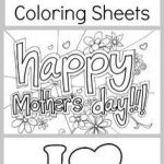 Mothers Day Cards Coloring Brilliant 71 Best Mothers Day Coloring Sheets Images