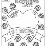 Mothers Day Cards Coloring Exclusive I Love You Mom Kindergarten