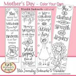 Mothers Day Cards Coloring Exclusive Proverbs 31 Godly Woman Mothers Day Color Your Own Bible Bookmarks