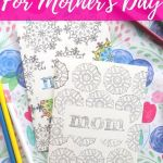 Mothers Day Cards Coloring Marvelous Diy Coloring Cards for Mother S Day