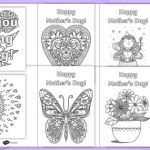 Mothers Day Cards Colouring Awesome Free Mother S Day Card Colouring Festivals and Cultural