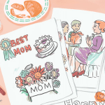 Mothers Day Cards Colouring Awesome Free Printable Mother S Day Coloring Pages