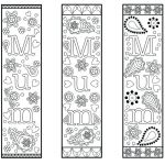 Mothers Day Cards Colouring Best Free Printable Bookmark Template for Mothers Day Mum Colouring