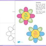 Mothers Day Cards Colouring Excellent Mothers Day Flap Flower Card Craft Educational Resource