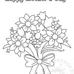 Mothers Day Cards Colouring Exclusive Coloring Books Flower Bouquet Coloring Page Printable for Kids