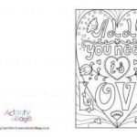 Mothers Day Cards Colouring Inspiration Valentine S Day Colouring Cards