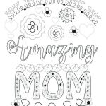 Mothers Day Cards Colouring Inspirational Mothers Day Coloring Cards – Koshi Afo