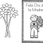 Mothers Day Coloring Card Inspiration Happy Mother S Day Feliz Da De La Madre Card Spanish by