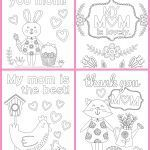 Mothers Day Coloring Card Marvelous Coloring I Love You Mom Coloring Pages Printable Free Books New
