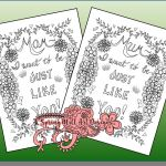 Mothers Day Coloring Pages Printable Elegant Happy Mother S Day Coloring Page Just Like Mom Just Like