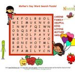 Mothers Day Coloring Sheets for Preschoolers Elegant Holiday 6 Mother S Day Word Search Puzzle 7 Words